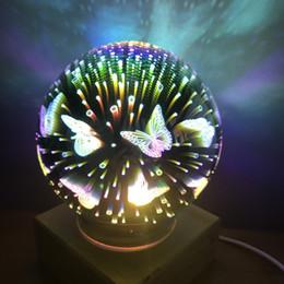 2019 draußen mobile bars Wholsale Tischlampen für Wohnzimmer Phantasie magische Glas dekorative Lampe 3D Licht USB bunte LED Schreibtisch Lampen heißer Verkauf Freies Verschiffen
