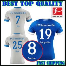 6adfffc05 2018 2019 FC Schalke 04 Soccer Jersey 18 19 BURGSTALLER 7 UTH 6 Mascarell  HARIT SERDAR SANE Custom Home Away 18 19 Football Shirt