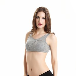 Wholesale Fast Bras - 2018 Manufacturers wholesale two-piece high-intensity shock absorption sports yoga bra Fast-drying breathable edgeless gathered underwear Co