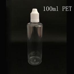 tappi dimagranti Sconti 50pcs bottiglie di plastica vuote 100 ML PET bottiglia contagocce con bambino prova Tamper Evident Caps punta sottile per e-liquido succo di vape spedizione gratuita