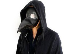 Masque long nez en Ligne-masque de médecin peste bec docteur masque long nez cosplay masque de fantaisie gothique rétro rock en cuir PU