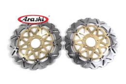 Wholesale Zx7r 1997 - Arashi Front Brake Disc Brake Rotor FOR KAWASAKI ZXR750 L R 1993-1995 1994 ZX9R NINJA 1994-1997 2002 2003 1995 1996 ZX7R ZX12R DBS027W