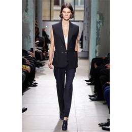 f89252ce56b3 Abito da donna nero da lavoro Vestito da ufficio da donna Suit 2 pezzi  Blazer Set Su misura Nuovo 100% Tute B04 donne di colore nero in vendita