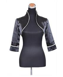 Wholesale Career 14 - Elegant 3 4 Sleeves Satin Wedding Party Evening Office & Career Wedding Wraps With Side-Draped Coats   Jackets