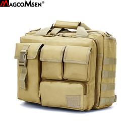 Argentina MAGCOMSEN 36x25x29 cm Hombres Clásicos Maletín de Nylon Durable Bolsas de Ordenador Portátil Hombre Camuflaje Ejército Bolsas de Trabajo AG-LM-01 Suministro