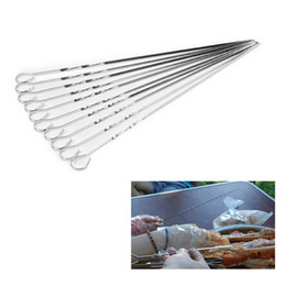 diy accessories supplies Australia - Hifuar 10PCs Set Stainless Steel Flat Skewers For Outdoor BBQ Tools Kitchen DIY Barbecue Accessories Tour Hiking Supplies