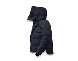 Wholesale fur coats canada - hot sale new Canada New Arrival sale men's Down parka Black Navy Gray Jacket Winter Coat  Parka Fur sale With Free Shipping Outlet