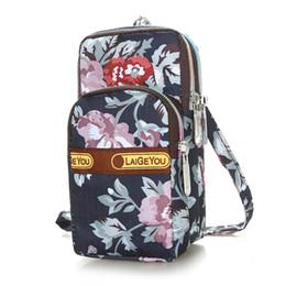 2019 pelle di ragazza appesa Fashion Leather Wallet Zipper Clutch Purse Girl Printed Floral Handbag Bag Appeso borse borsa del collo per le donne 2018 bolso mujer #C pelle di ragazza appesa economici