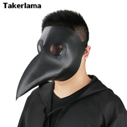 Wholesale Steampunk Costume Accessories - props Takerlama Cospaly Dr. Beulenpest Steampunk Plague Doctor Mask Faux Leather Birds Beak Masks Halloween Art Cosplay Carnaval Props
