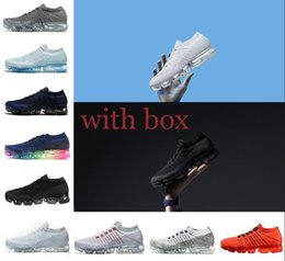 Wholesale Outdoor Floor Lights - 2018 New Vapormax Running Shoes For Men Sneakers Women Fashion Athletic Sport Shoe Hot Corss Hiking Jogging Walking Outdoor Shoe US 5.5-11