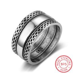 Canada Anneaux en argent massif 925 à double lacet vague rétro Vintage bagues pour les femmes mariage bijoux en argent (RI102785) D18111405 supplier sterling silver wave ring Offre