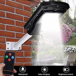 Wholesale Remote Solar Panel - New PIR Motion Sensor 30W Solar LED Street Light Waterproof Outdoor Solar Panel Lighting With Remote Controller + ARM