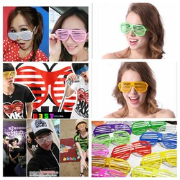Wholesale Party Shade Glasses - Nightclub Sunglasses World Cups Fans Sunlasses Stripe Glasses Party Hip Window shades mosaic Sunglasses Russia Random colors YYA1066