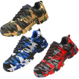 botas planas de moda del tobillo de las mujeres Rebajas Zapatos de seguridad con cabezal de acero para proteger los zapatos del aplastamiento y la perforación botas de trabajo botas para hombres seguridad en el trabajo