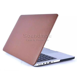 Wholesale Apple Macbook Pro Keyboard - PU Leather Laptop Mac Skin Protector Shell Case For Macbook Air Pro Retia 11.6 12 13.3 15.4 inch with Colorful Cover Keyboard Protector