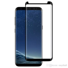 Wholesale Mm Notes - For S8 Screen Protector Full Cover 3D Curved 0.2 mm Tempered Glass Screen Protector Colors For Note 8 S8 Plus S7 Edge S6 With Retail Package