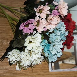 Sale silk flower heads coupons promo codes deals 2018 dhgate coupon big sale 6 branches 10 head floral artificial flower bouquet silk flowers spring daisy flowers artificial mightylinksfo