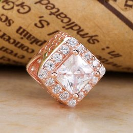 2019 encantos de brillo Encantos de la radiación geométrica oro rosa S925 ajustes de plata para la pulsera del estilo de pandora envío gratis H8ale H8
