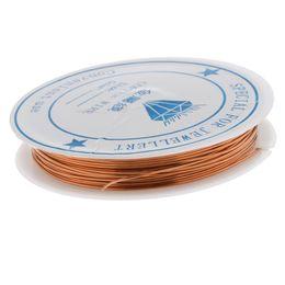 2019 lace stoff geschenk taschen Fityle Kupferdraht für Schmuck machen Supply Handwerk DIY für Wire Wrap Schmuck 0,7 mm