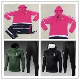 Wholesale top soccer jersey madrid - Juventus RONALDO Real Madrid TRACKSUIT Soccer Jacket 2017 18 hooded SUIT jerseys tops Coat jackets 17 18 tracksuits Muller SUSO sports wear