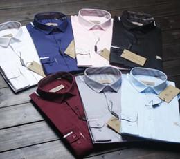 Argentina Venta al por mayor- Hombres Camisa de mancuernas francesas Camisa a rayas de negocios clásico Puño francés Camisas de vestir Camisa de manga larga Slim Fit Camisa Masculina Suministro
