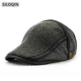 700868b7d74 SILOQIN Men Crochet Knit Cap Autumn Winter Men s Warm Cotton Beret Male  Knitted Stylish Hats For Men Adjustable Size Brands Hat discount men red beret  hats