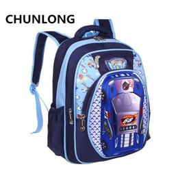 Wholesale Car Backpacks - CHUNLONG Russia Style Orthopedic 3D Car Cartoon School bags Backpacks For Boys Waterproof Backpack Child Kids School bag