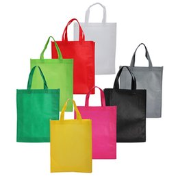 Wholesale Christmas Groceries - 100PCS Eco Reusable Shopping Bags Cloth Fabric Grocery Packing Recyclable Bag Hight Simple Design Lovely Tote Handbag Fashion