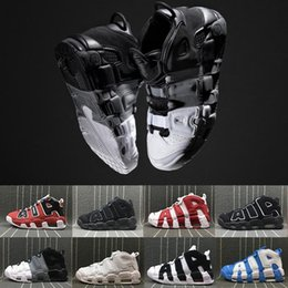 Wholesale More Splits - [With Box] Air more Uptempo Red Black Gold Mens Basketball Shoes For 3M Fashion Casual Sneaker Scottie Pippen Sports Sneakers US 8-13