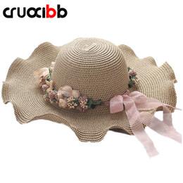 cappello di mare Sconti CRUOXIBB 2017 Cappello estivo da donna Cappello in  paglia per Lady elegante b7b07eeb2150