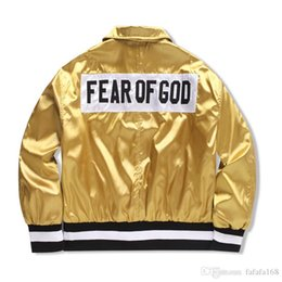 Wholesale Black Collection Clothing - FEAR OF GOD 1987 Collection Women Men Jacket JUSTIN BIEBER High street Clothes Clothing FOG Single Breasted Jackets Coats