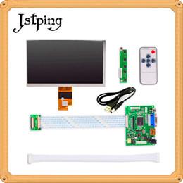 "Wholesale Raspberry Screen - Jstping 7""inch EJ070NA-01J HD LCD screen Monitor HDMI VGA 2AV LVDS for Raspberry Pi Input Driver Board High resolution display"
