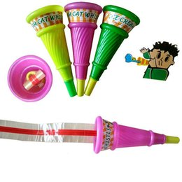 Wholesale Blow Whistle - Cute Ice Cream Blow Out Celebration Cheering Props Whistles Noise Maker Children Birthday Party Favors