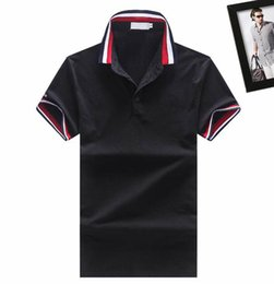 Wholesale Classic British - M1522 Luxury Mens Mon polo Brand British t shirt Summer short sleeve tshirt marque luxe homme Franch men Costume Clothing m-xxl size