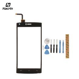 Acessórios doogee on-line-Hacrin para doogee x5 max pro tela de toque com ferramentas de vidro acessórios do painel de toque de telefone inteligente substituição para doogee x5 max pro