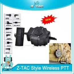 Z-TAC тактический стиль беспроводной PTT адаптер качество беспроводной для тактических наушников для Kenwood BaoFeng UV-5R UV-6R UV-82 UV-B6 TYT TH-UVF от