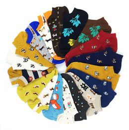 Wholesale Blue Zoo - 20 Colors Animal Women Socks Colorful Cute Sausage Dog Cotton Cartoon Couple lady Girl Spring Summer Socks Support Wholesale Zoo