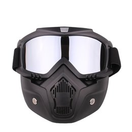 Wholesale Mask Goggle - Outdoor Sports Motorcycle Goggles Mask Protective Windproof Riding Skiing Goggles Glasses Mens Winter Skateboard Eyewear Accessories