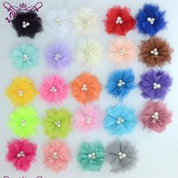 """Maille en strass en strass en Ligne-Nishine 10 PCS 2.4 """"Mignon Chic Mesh Cheveux Fleurs Avec Strass Perles Fleurs Artificielles Fleurs Pour Diy Cheveux Accessoires"""