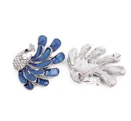 Jóias broche de pavão on-line-Crafted Peacock Brooch Pinos Jóias Esmalte Grande Idéia Presente Moda Banhado A Prata Dos Desenhos Animados Pin Presente para As Mulheres Menina