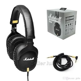 Micrófono dj online-Marshall MONITOR Auriculares con Micrófono Bass Profundo Marshall DJ Auriculares Hi-Fi Auriculares HiFi Auriculares Profesionales DJ Monitor