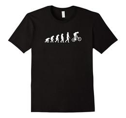 Meilleures marques de vtt en Ligne-MTB T Shirt - Funny Mountain Biker Evolution Tee T-shirt de marque de qualité à manches courtes