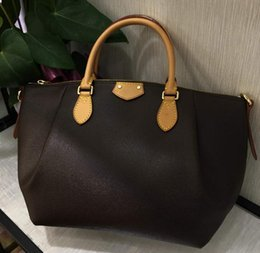 59071ff394b4 New Women Bag Classic Leather Handbags Brown Bags Brands Lady Designer  Clutch Top Shoulder Bag Totes Size l with wallets online sale