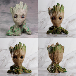 New Groot Action Figures Guardiani della Galassia Flowerpot Baby Action Figure Cute Model Toy Pen Pot I migliori regali di Natale per i bambini a casa da