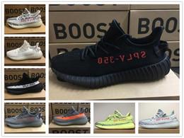 Zapatos de baloncesto de diseño online-Adidas yeezy supreme 350 VENTA CALIENTE 2018 Nuevo Original 350 V2 Kanye West Zebra Beluga Mujer Hombre Baloncesto Diseño Zapatillas Zapatillas de deporte
