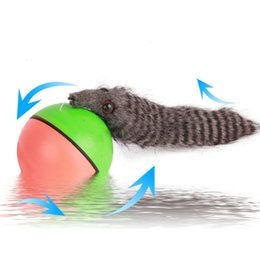 Wholesale Dog Gag - 1 Pcs Novelty Gag Entertainment Toys Creative Beaver Weasel Rolling Motor Ball Pet Cat Dog Kids Chaser Jumping Fun Moving Toy