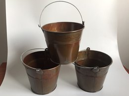 Wholesale Wholesale Tin Buckets Pails - D15XH13CM Metal Flower Planter Iron Buckets Succulents Pots Tin Pails Decor Pails Ornament For Home and Garden SF-020-2