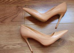 Cobra laranja on-line-Marca Mulher Laranja Cobra Impresso vermelho sola inferior sexy sapatos Salto Alto mulheres dedo apontado Bombas sapatos de casamento Stilettos grande tamanho 34-44