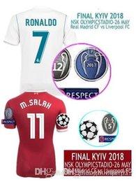 Discount 26 shirt - 2018 Final Real Madrid VS LVP Final KYIV 2018 NSK 26 May SOCCER JRSEYS ASENSIO M.SALAH RONALDO BENZEMA JERSEY 17 18 Champions League Shirts