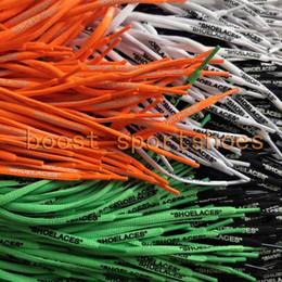 Wholesale Wholesale Shoe Laces - Shoelaces 4 color laces Customize your own text Shoe laces Parts & Accessories Lace Black White Green Orange Shoes lace Length 1-1.2M